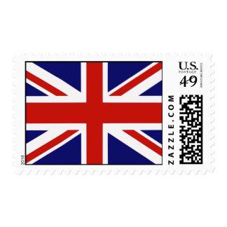 Bandera británica timbres postales