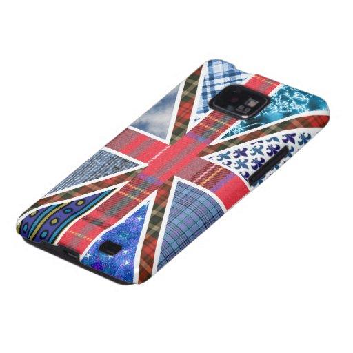 Bandera británica Union Jack del tartán, del dril Galaxy SII Carcasa
