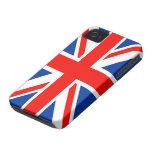 Bandera británica (Union Jack) iPhone 4 Case-Mate Coberturas