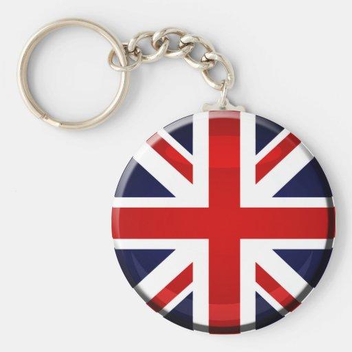 Bandera británica Union Jack GB Llaveros Personalizados