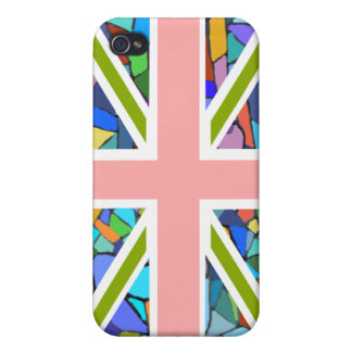 Bandera británica Union Jack inspirado por los mos iPhone 4 Carcasas