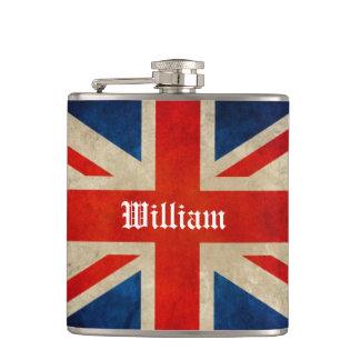 Bandera BRITÁNICA Union Jack - nombre de encargo d Petaca