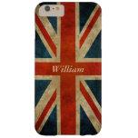 Bandera BRITÁNICA vieja del Grunge - Gran Bretaña Funda De iPhone 6 Plus Barely There