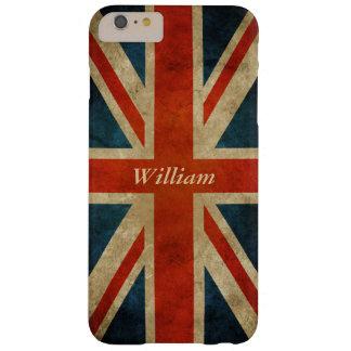 Bandera BRITÁNICA vieja del Grunge - Gran Bretaña Funda Barely There iPhone 6 Plus