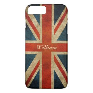Bandera BRITÁNICA vieja del Grunge - Gran Bretaña Funda iPhone 7 Plus