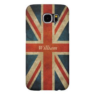 Bandera BRITÁNICA vieja del Grunge - Gran Bretaña Fundas Samsung Galaxy S6