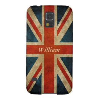 Bandera BRITÁNICA vieja del vintage - Gran Bretaña Funda Para Galaxy S5