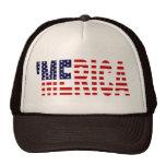 'Bandera Brown de Merica los E.E.U.U. y gorra del