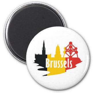 Bandera Bruselas Imán Redondo 5 Cm