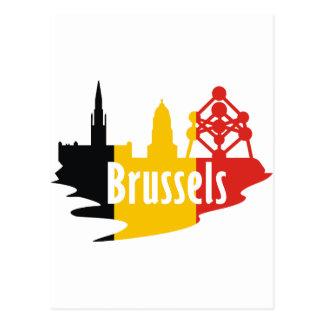 Bandera Bruselas Tarjetas Postales