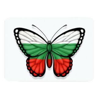 """Bandera búlgara de la mariposa invitación 5"""" x 7"""""""