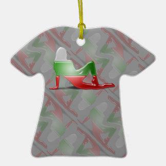 Bandera búlgara de la silueta del chica ornamento para reyes magos