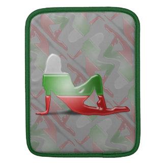 Bandera búlgara de la silueta del chica mangas de iPad