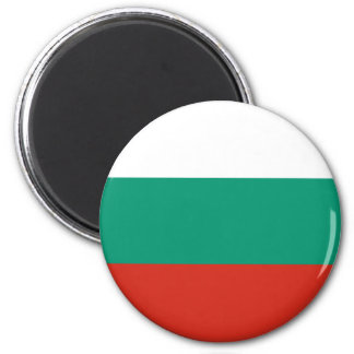 Bandera búlgara imán redondo 5 cm