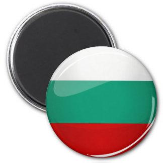 Bandera búlgara redonda brillante imán redondo 5 cm