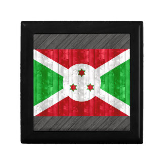 Bandera burundesa de madera caja de regalo
