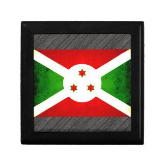 Bandera burundesa nerviosa moderna cajas de recuerdo