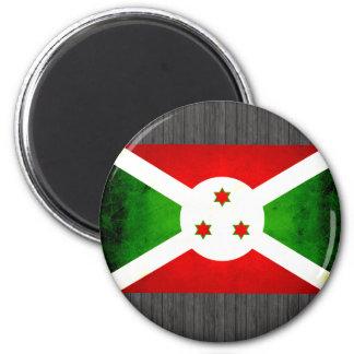 Bandera burundesa nerviosa moderna imán de frigorífico