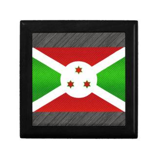 Bandera burundesa pelada moderna caja de recuerdo
