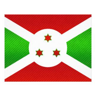 Bandera burundesa pelada moderna flyer a todo color