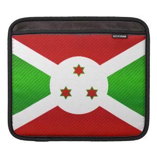 Bandera burundesa pelada moderna fundas para iPads