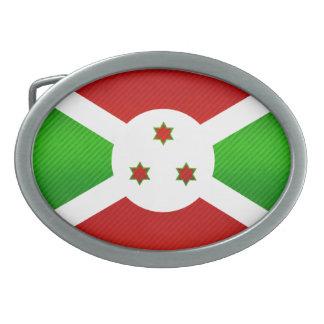 Bandera burundesa pelada moderna hebilla cinturón