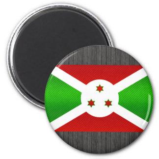 Bandera burundesa pelada moderna imán para frigorifico