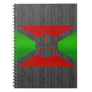 Bandera burundesa pelada moderna libro de apuntes con espiral