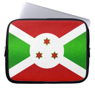 Bandera burundesa pelada moderna mangas portátiles
