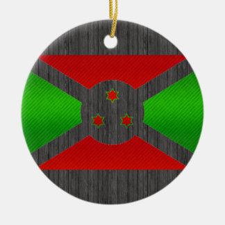 Bandera burundesa pelada moderna ornatos