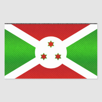 Bandera burundesa pelada moderna rectangular altavoz