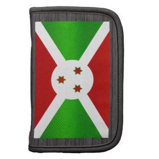 Bandera burundesa pelada moderna planificador