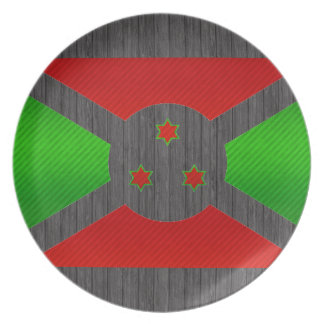 Bandera burundesa pelada moderna platos para fiestas