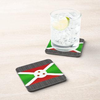 Bandera burundesa pelada moderna posavasos de bebida