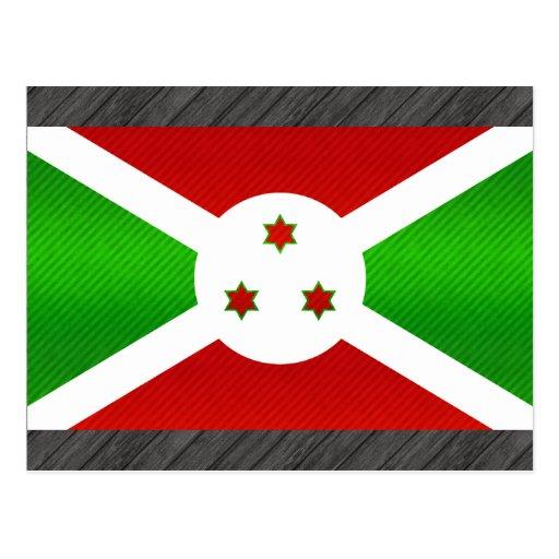 Bandera burundesa pelada moderna postales