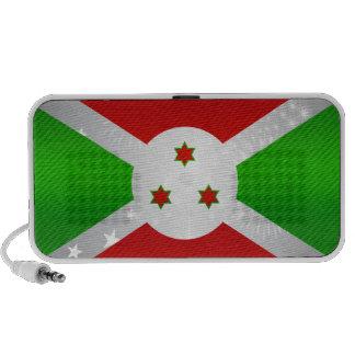 Bandera burundesa pelada moderna sistema altavoz