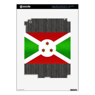 Bandera burundesa pelada moderna pegatinas skins para iPad 3