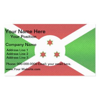 Bandera burundesa pelada moderna tarjeta de visita