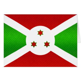 Bandera burundesa pelada moderna tarjeton