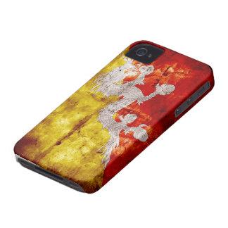 Bandera butanesa resistida iPhone 4 Case-Mate protector