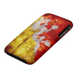 Bandera butanesa resistida iPhone 3 Case-Mate cobertura