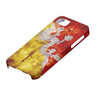 Bandera butanesa resistida iPhone 5 fundas