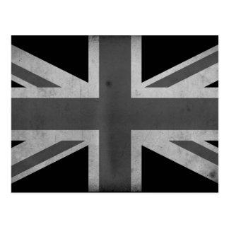 Bandera BW de Gran Bretaña Tarjetas Postales