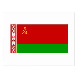 Bandera Byelorussian de SSR Tarjetas Postales