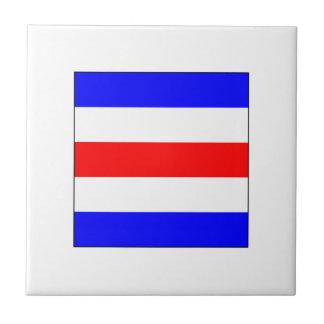 Bandera C del ICS Azulejo Cuadrado Pequeño