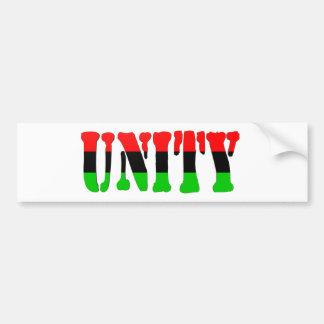 Bandera Cacerola-Africana de la unidad Pegatina De Parachoque