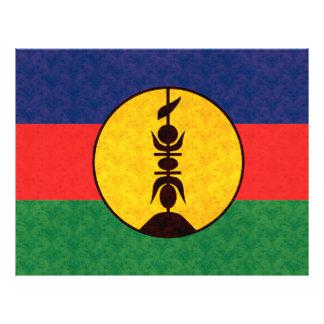 Bandera caledonia del modelo del vintage tarjetón