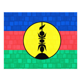 Bandera caledonia del modelo moderno tarjetones