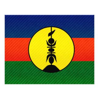 Bandera caledonia pelada moderna tarjeta publicitaria