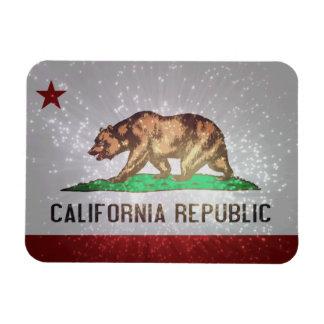 Bandera californiana imán de vinilo